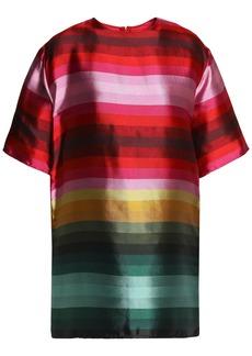 Valentino Woman Striped Duchesse Silk-satin Tunic Multicolor