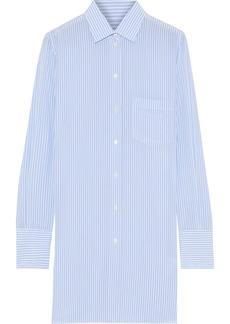Valentino Woman Striped Silk Shirt Light Blue