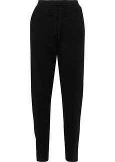 Valentino Woman Stud-embellished Jersey Tapered Pants Black