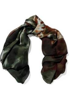 Valentino Woman Tie-dye Silk-chiffon Scarf Multicolor