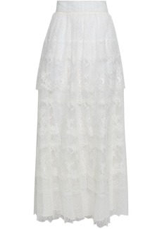Valentino Woman Tiered Lace Maxi Skirt Ivory