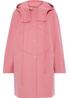 Valentino Woman Wool And Cashmere-blend Hooded Coat Bubblegum