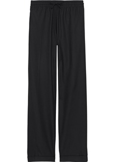 Valentino Woman Wool And Cashmere-blend Twill Wide-leg Pants Black