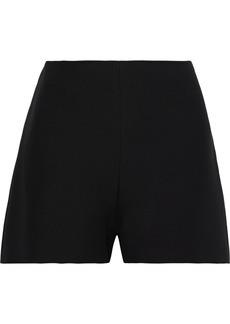 Valentino Woman Wool And Silk-blend Cady Shorts Black