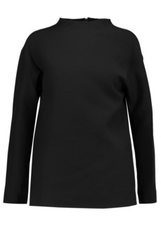 Valentino Woman Wool And Silk-blend Top Black
