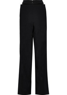 Valentino Woman Wool Wide-leg Pants Black