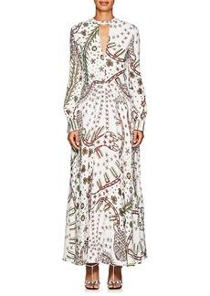 Valentino Women's Abstract-Print Crepe Maxi Dress