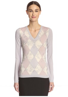 Valentino Women's Argyle Sweater  S
