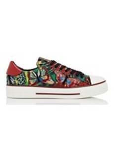 Valentino Women's Butterfly-Embroidered Canvas Sneakers