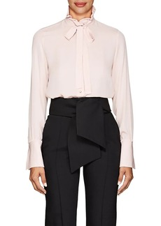Valentino Women's Button-Detail Silk Blouse