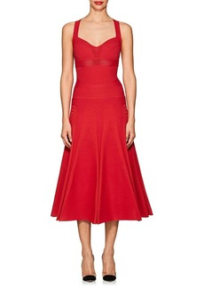 Valentino Women's Compact Knit Fit & Flare Dress
