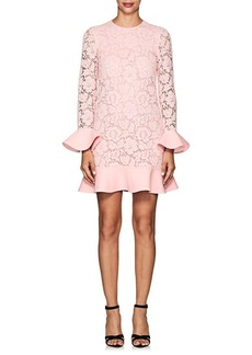 Valentino Women's Corded Lace Flounce Shift Dress