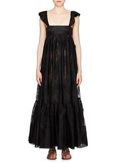 Valentino Women's Cotton-Blend Eyelet Tank Dress