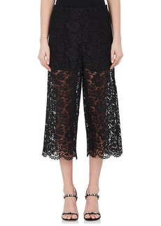 Valentino Women's Cotton-Blend Guipure Lace Culottes