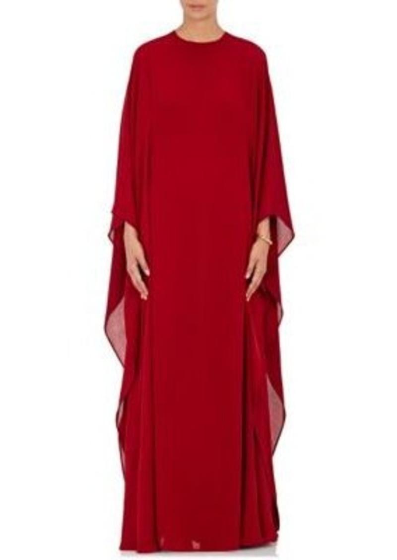 Valentino Women's Crêpe De Chine Caftan Gown-Burgundy Size 6