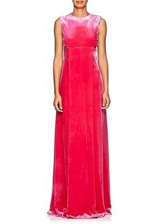 Valentino Women's Cutout Velvet Column Gown