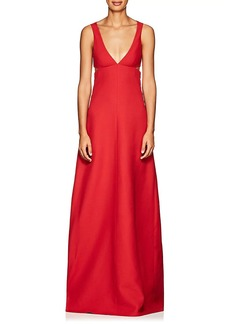 Valentino Women's Cutout Wool-Silk Crepe Gown