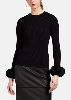 Valentino Women's Disc-Embellished Rib-Knit Top