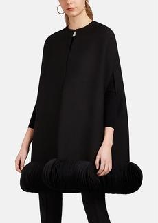 Valentino Women's Disc-Embellished Wool-Silk Cape
