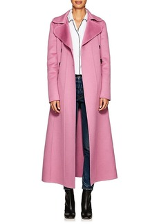 Valentino Women's Double-Breasted Wool-Angora Long Coat