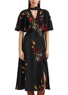 Valentino Women's Floral Silk Crêpe De Chine Wrap Dress