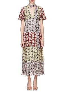 Valentino Women's Floral Silk Tieneck Dress