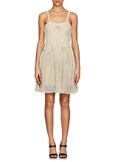 Valentino Women's Flower-Detailed Crochet Dress