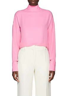 Valentino Women's High-Neck Silk Blouse