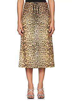 Valentino Women's Jaguar Calf Hair Midi-Skirt