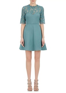Valentino Women's Lace & Wool-Silk Minidress