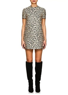 Valentino Women's Leopard Jacquard Shift Dress