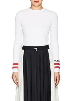 Valentino Women's Logo-Cuff Rib-Knit Top