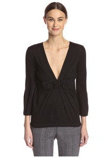 Valentino Women's Mesh Detail Sweater  40/4 IT/ US