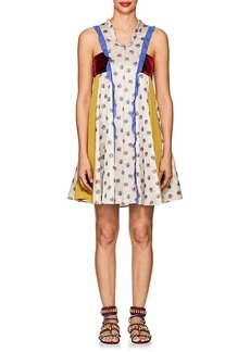 Valentino Women's Patchwork A-Line Dress