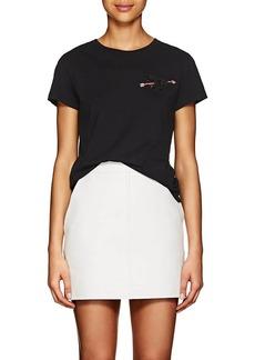 Valentino Women's Pierced-Heart Cotton T-Shirt
