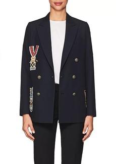 Valentino Women's Piqué Wool Double-Breasted Blazer