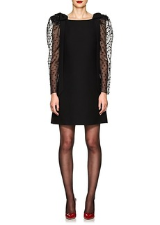 Valentino Women's Puff-Sleeve Wool-Silk Cocktail Dress