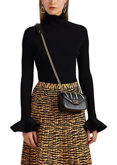 Valentino Women's Rib-Knit Bell-Sleeve Turtleneck Top