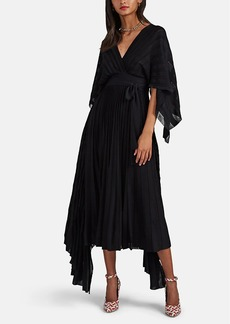 Valentino Women's Rib-Knit Wool-Blend Winged Long Dress