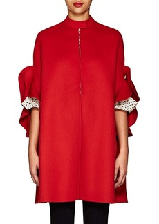 Valentino Women's Ruffle-Trimmed Wool Melton Cape