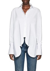 Valentino Women's Scalloped-Hem Cotton Crop Blouse