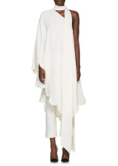 Valentino Women's Scalloped-Hem Silk Dress