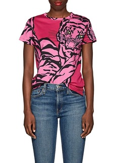 Valentino Women's Tiger-Print Cotton T-Shirt