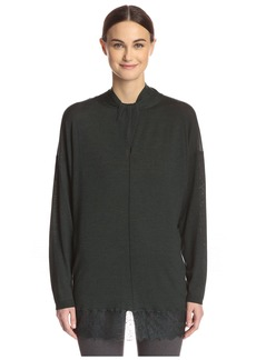Valentino Women's Tunic Sweater with Lace Trim  M