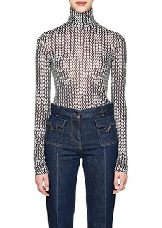 Valentino Women's V-Print Turtleneck Blouse