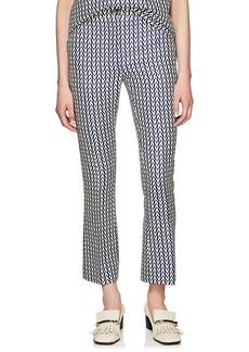 Valentino Women's V-Print Wool-Silk Trousers