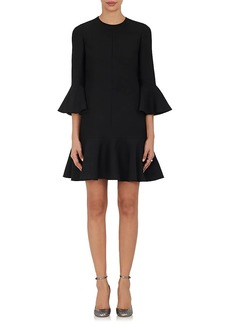 Valentino Women's Virgin Wool-Silk Ruffle Dress