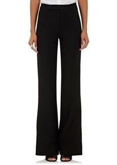 Valentino Women's Virgin Wool-Silk Wide-Leg Trousers