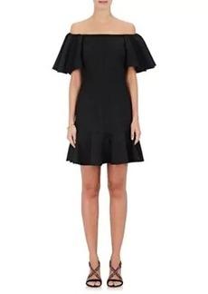 Valentino Women's Wool-Silk Off-The-Shoulder Dress