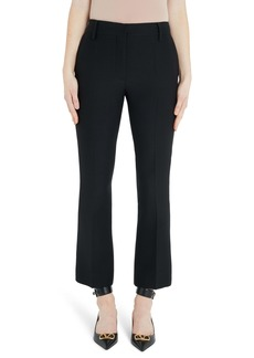 Valentino Wool & Silk Ankle Pants